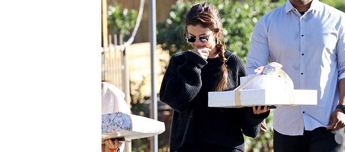 Selena Gomez na baby shower znajomej w Studio City, Kalifornia